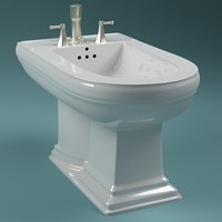 bidet scanline 3d model