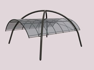 element pergola polycarbonate 3d model