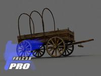 horse drawn 3d model
