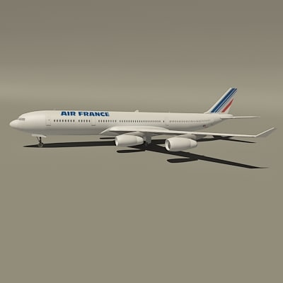 airbus air france 3d model