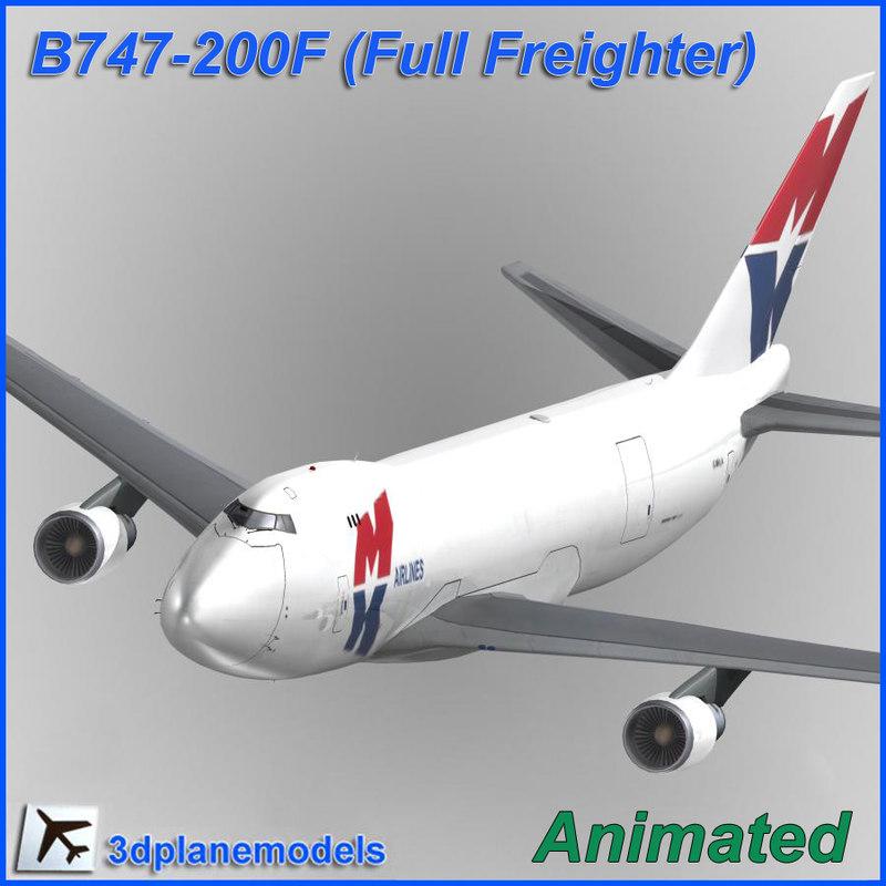 b747-200 747 3d model