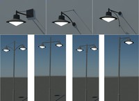 pole wall urban lighting 3d model