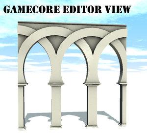 arch architecture 3d model