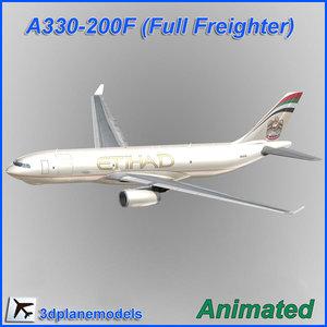 airbus aircraft landing cargo 3d model
