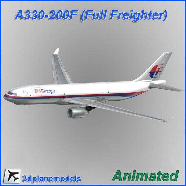 airbus a330f aircraft 3d model