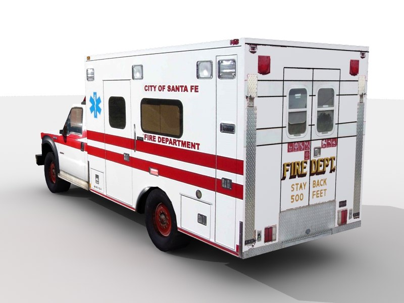 rescue vehicle 3d model