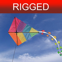 kite rigged 3d model