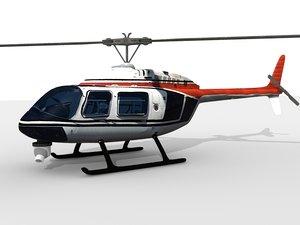 photo real bell jet 3d model