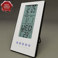digital clock 3d model