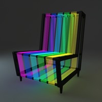 disco chair night light 3d model
