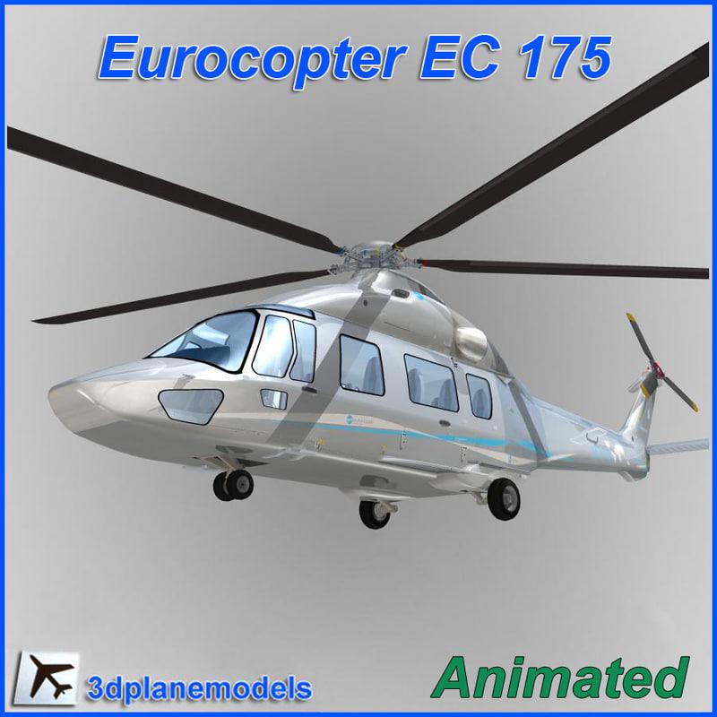 eurocopter helicopter ec-175 3d model