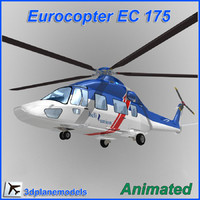 eurocopter helicopter ec-175 3d model