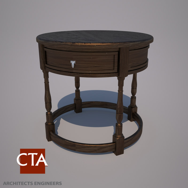 modern end table 3d model