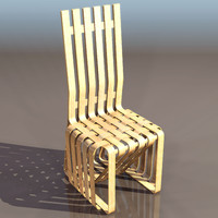 frank gehry sticking chair 3d model