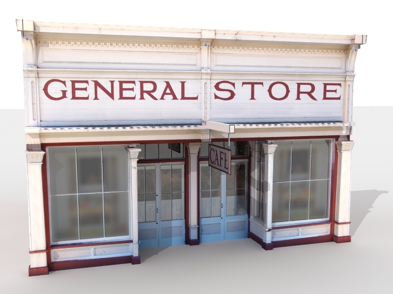 general store 3d model