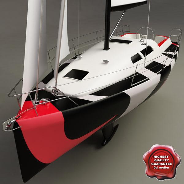 harmony 38 sailing yacht 3d model