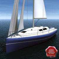 harmony 38 sailing yacht 3d model