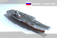 admiral kuznetsov 3d model