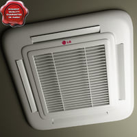 lg cassette-type air conditioner 3d model