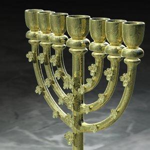 golden lampstand - gold 3d model