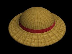 free luffy hat 3d model