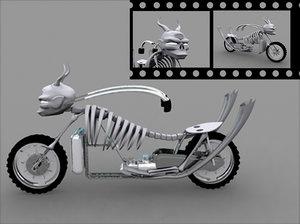monster bike 3d model