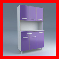 cupboards cabinet 3d model