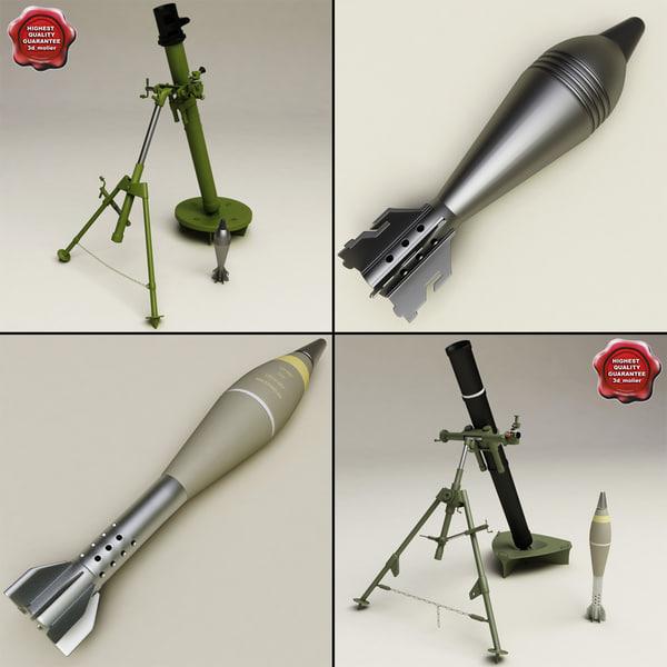 mortars podnos modelled 3d model