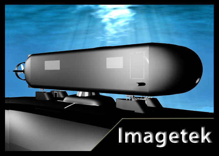 navy asds submersible vehicle 3d model