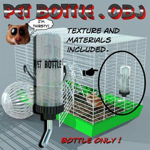 water bottle pet 3d model