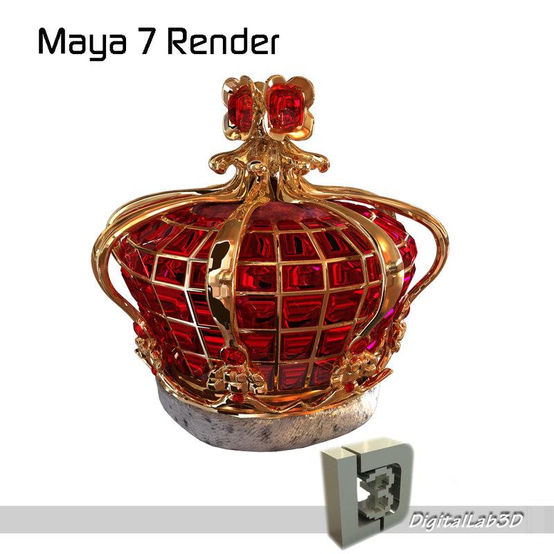 ruby crown 3d model
