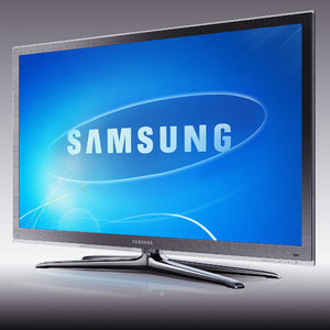 tv samsung led ue55c8000 3d model