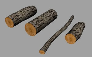 tree bark sliced 3d model