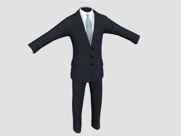 business suit 3d model