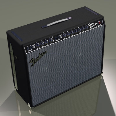 speakers amp 3d model