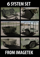 Six (6) US Military Trailer Collection Set #1