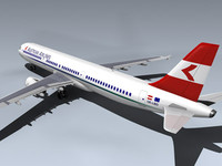 airbus a321-211 jet airlines 3d model