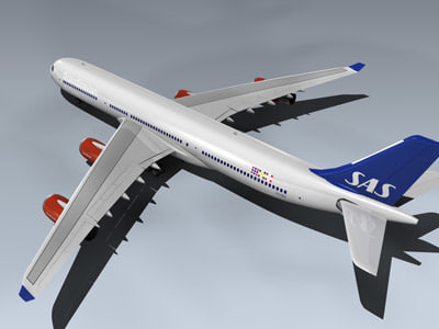 airbus a340-313x jet airlines 3d model