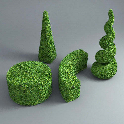 hedge set 3d model