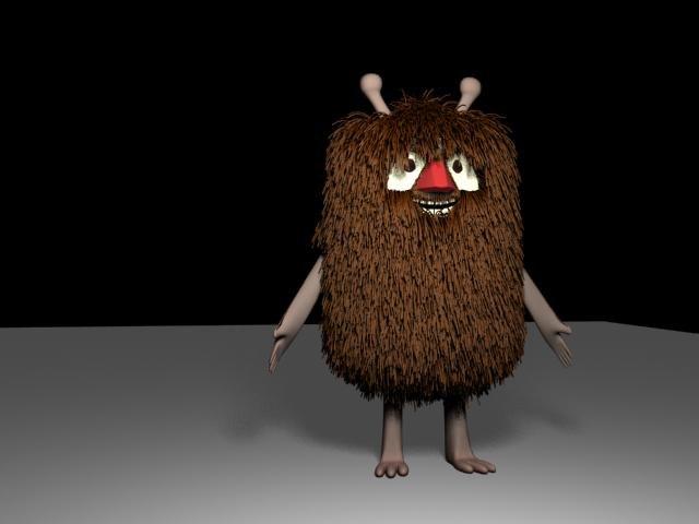 fur creature 3d model