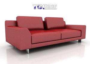 calligaris newport sofa 3d model