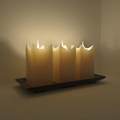 candles lights candlestick 3d model