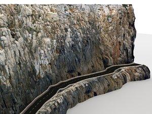 cliff road 3d model