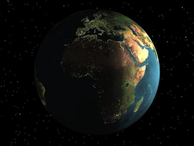 realistic earth moon 3d model
