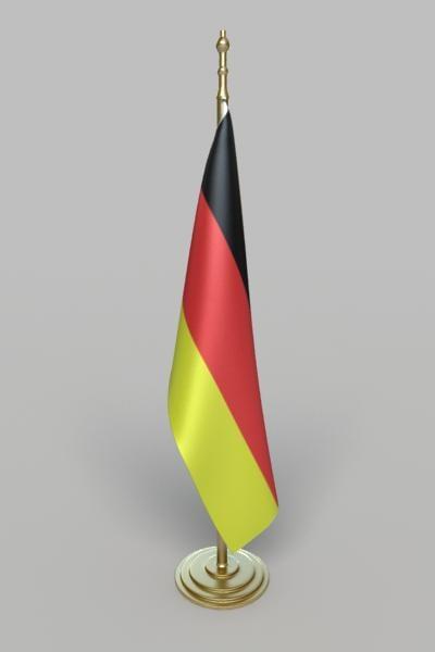 flag germany office 3d model