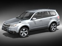 subaru forester 2009 suv 3d model