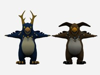 warcraft cartoon bird 3d model