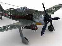 german wwii fighter aircraft 3d model