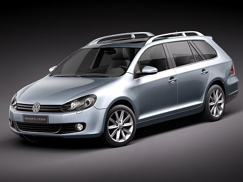 volkswagen golf vi 6 3d model