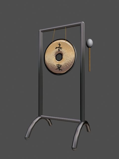 classic chinese gong 3d model